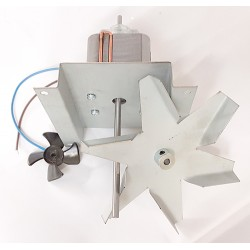 Single coil fan motor with impellers